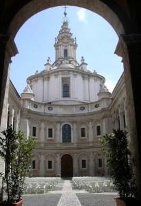 Il cortile di Sant'Ivo dove si è svolta la Rassegna