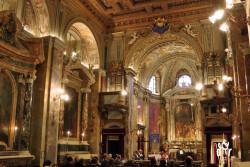 L'interno della chiesa di S. Eligio de' Ferrari