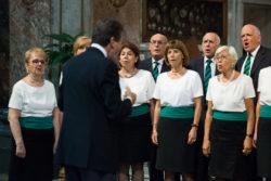 Il coro nel 2015 a san Rocco