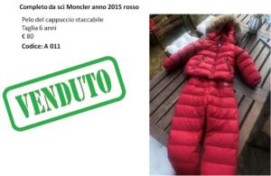 A 011 completo sci Moncler rosso