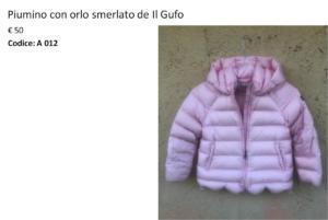 A 012 Piumino Il Gufo rosa