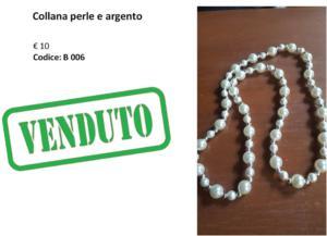 B 006 Collana perle e argento