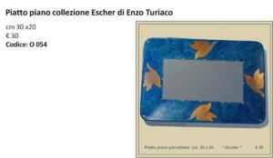 B- Piatto piano porcellana cm 30 x 20 Escher € 30 ET