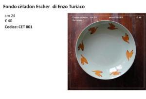 CET 001 Piatto celadon Escher