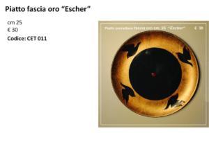 CET 011 Piatto fascia oro Escher