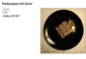 CET 017 Piatto piano Art Deco