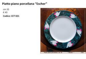 CET 021 Piatto piano porcellana