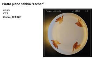 CET 022 piatto piano sabbia ESCHER