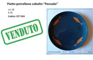 CET 024 Piatto blu cobalto