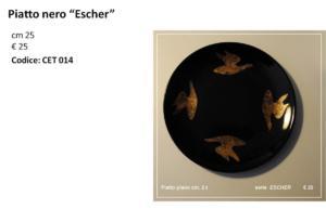 CET 14 Piatto nero Escher