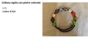 Collana rigida con pietre colorate