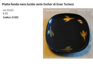 ET D Piatto fondo nero serie Escher