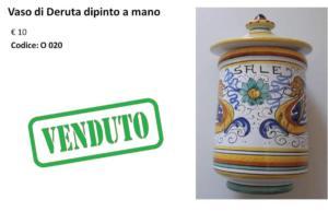 O 020 vaso di Deruta dipinto a mano
