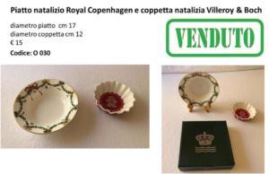 Piatto Royal Copenhagen e coppetta Villeroy & Boch