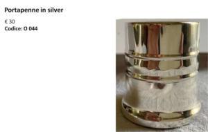 Portapenne in silver
