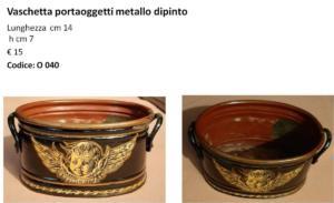 Vaschetta portaoggetti metallo dipinto